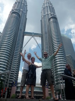 Dad, Sue and Me at the Petronas Towers (Kuala Lumpur, Malaysia)