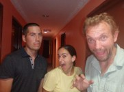 Vaughan, Kim and me on our last night together. Probably time we stopped hanging out to be fair. (Port Klang, Malaysia)