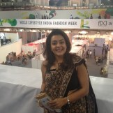 The fabulous Tina Sharma at Indian Fashion week (Delhi, India)