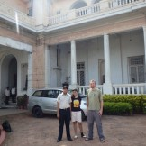 Udrrek, Prerna and me outside Quila House (Patna, India)