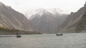 Boats and Mountain Views (Attabad Lake, Pakistan)