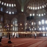 Inside the Blue Mosque (Istanbul, Turkey)