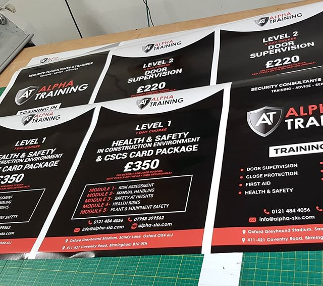 A2 size posters printedWaiting to be trimmed down to sizeTo place