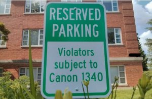 Episcopal Parking Subject to Canon Law 1340