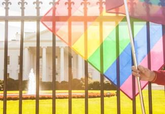 Rainbow Flag at the White House
