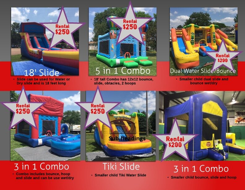 Individual Inflatable Rentals « Big Red Bounce