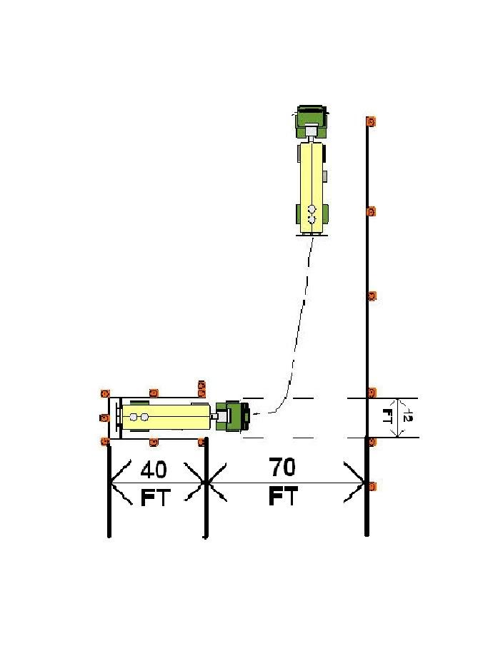 cdl skills test cone layout - Big Rig Career