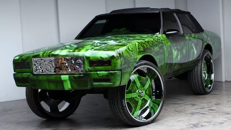 Awesome Cool Car Wallpapers Hulk 1989 Box Chevy Caprice Donk On 30 Inch Forgiato