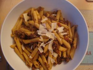 speedy sausage ragu pasta