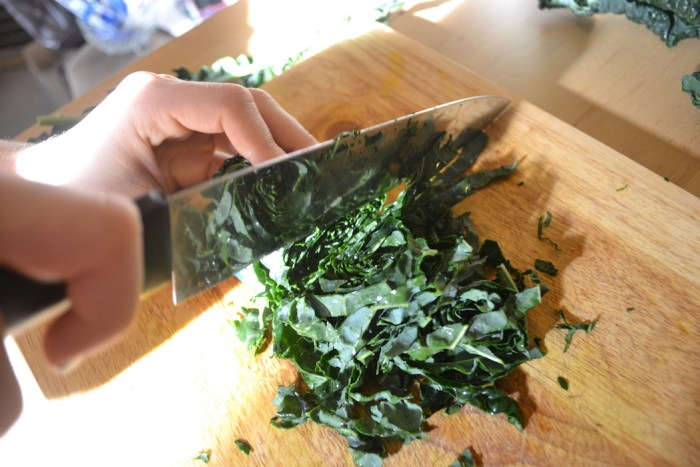 Thinly sliced kale makes this kale and mint salad easy to eat
