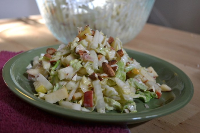 Crunchy Kohlrabi Slaw with Apples and Napa Cabbage Full recipe on BigTasteTinySpace.com