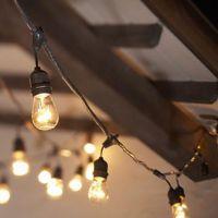 Rent caf lights/Edison light: Iowa Wedding & Event lighting