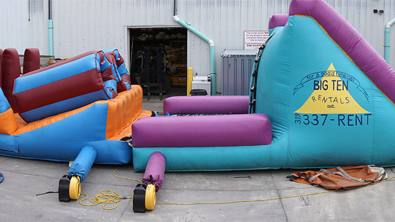 Big Inflatable Couch 40 Inflatable Obstacle Course Challenge Rental