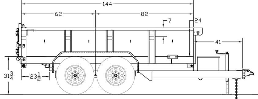 Big Tex Trailers 10LX Pro Series Tandem Axle Extra Wide Dump Trailer
