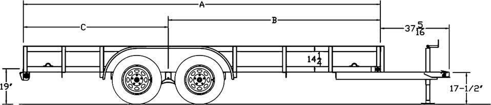 Big Tex Trailers 50LA Tandem Axle Angle Iron Utility Trailer