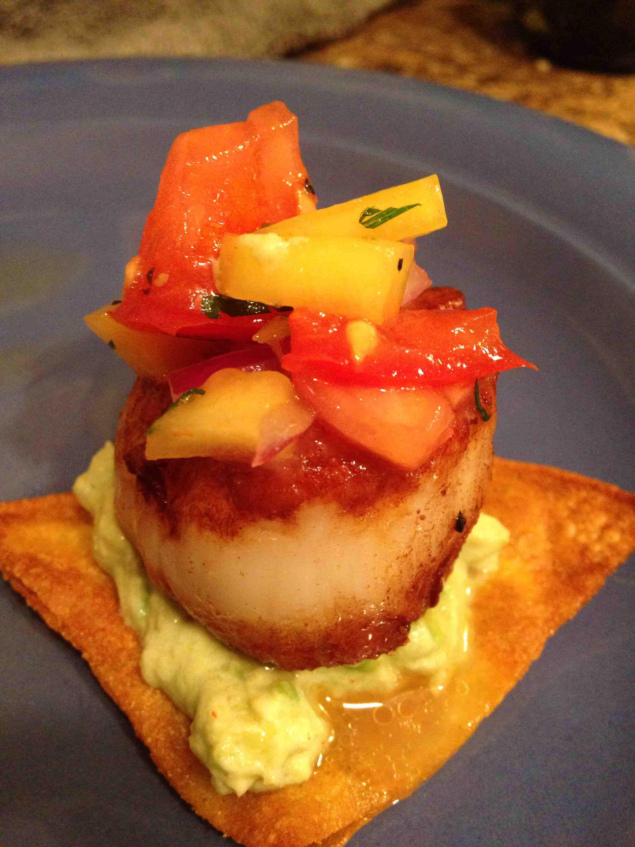 Great Summer Scallops with Avocado Cream and SalsaBIG TEXAS HOMEBUYERS