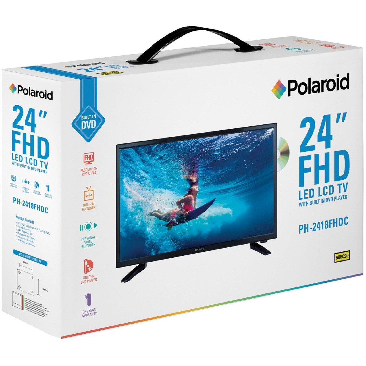 Shop 24 Tv Polaroid 24 Quot Fhd Tv With Built In Dvd Player Big W