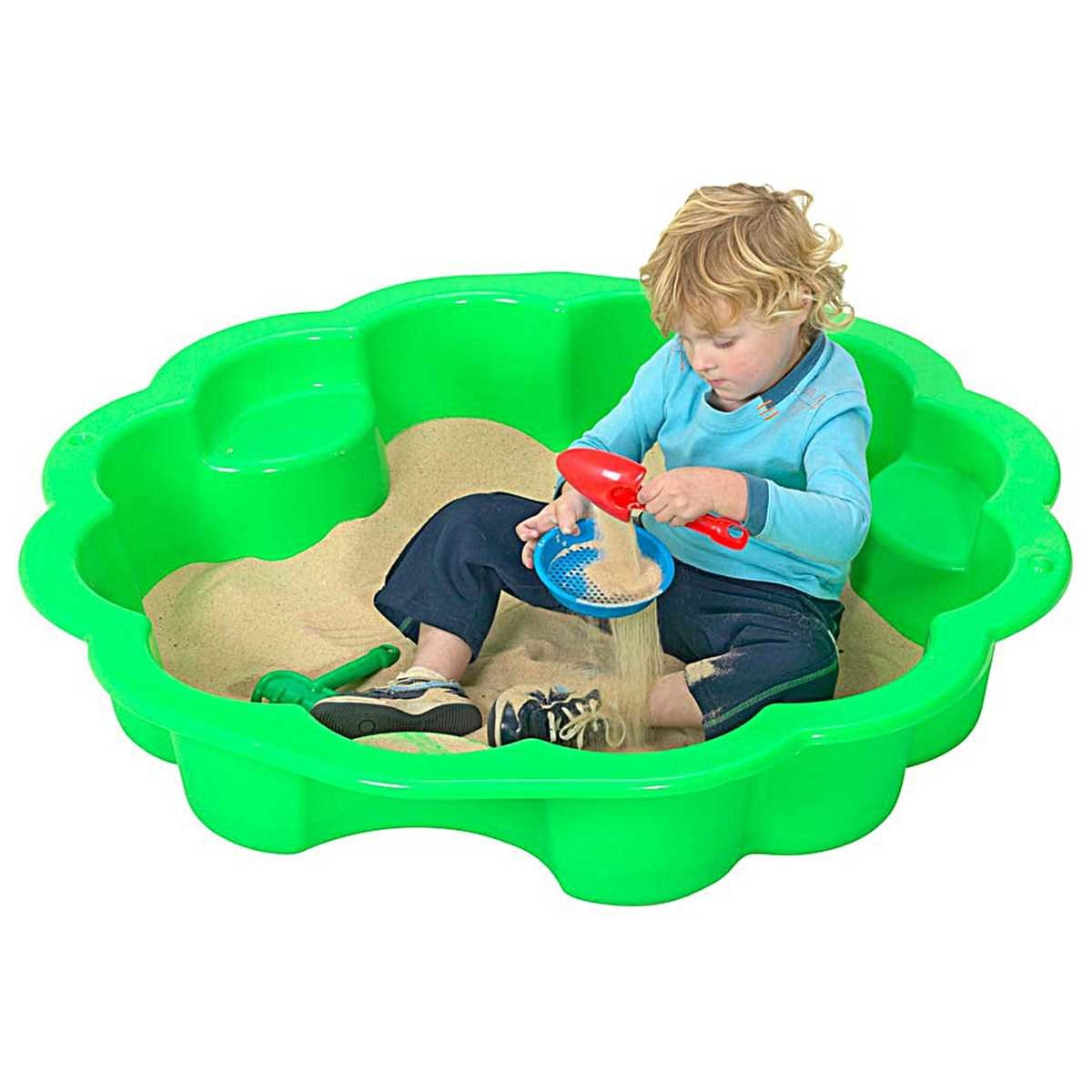 Big W Sand Pit Fountain Multi Purpose Play Shell Green