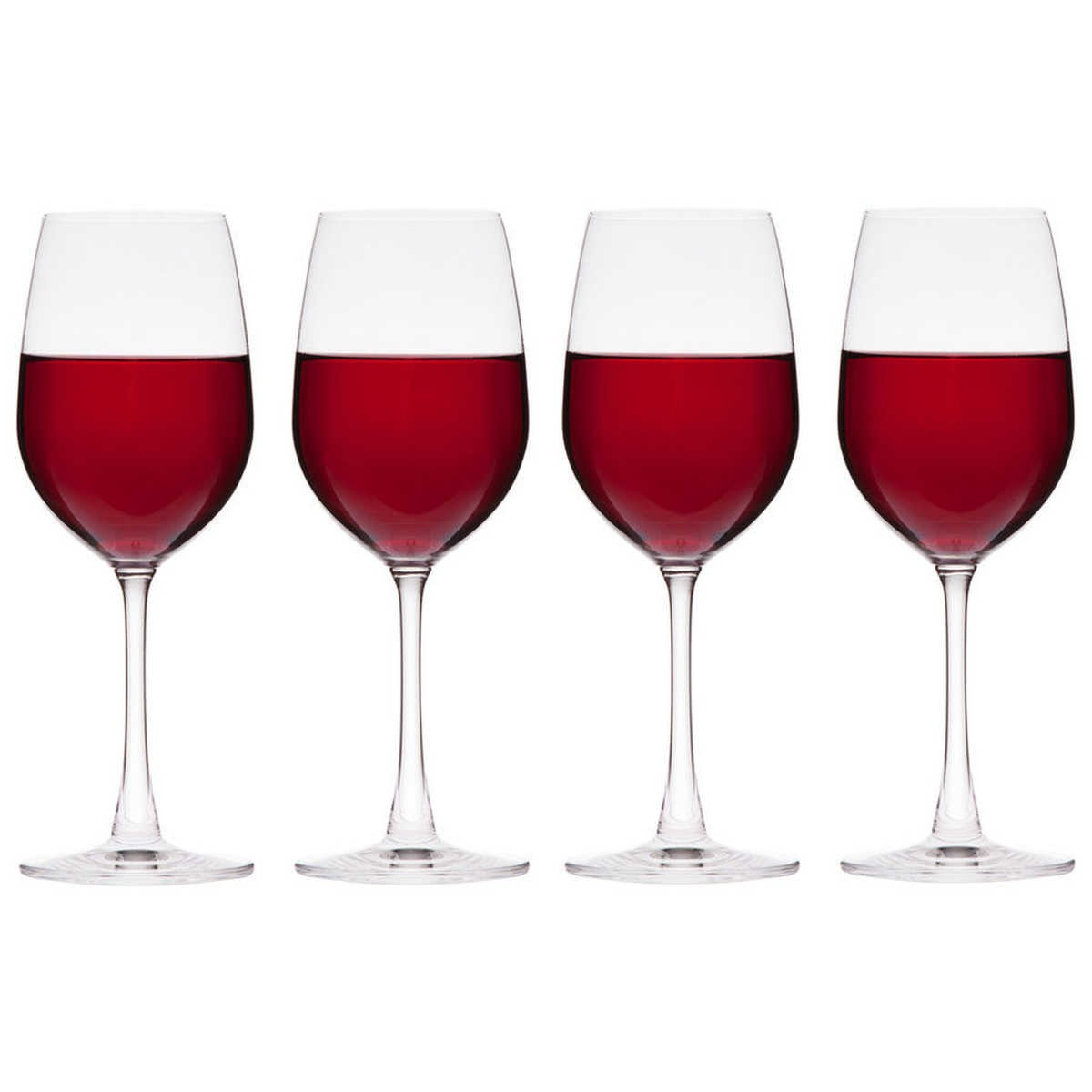 Big Red Wine Glasses Wiltshire Salute Set Of 4 Red Wine Glasses Big W