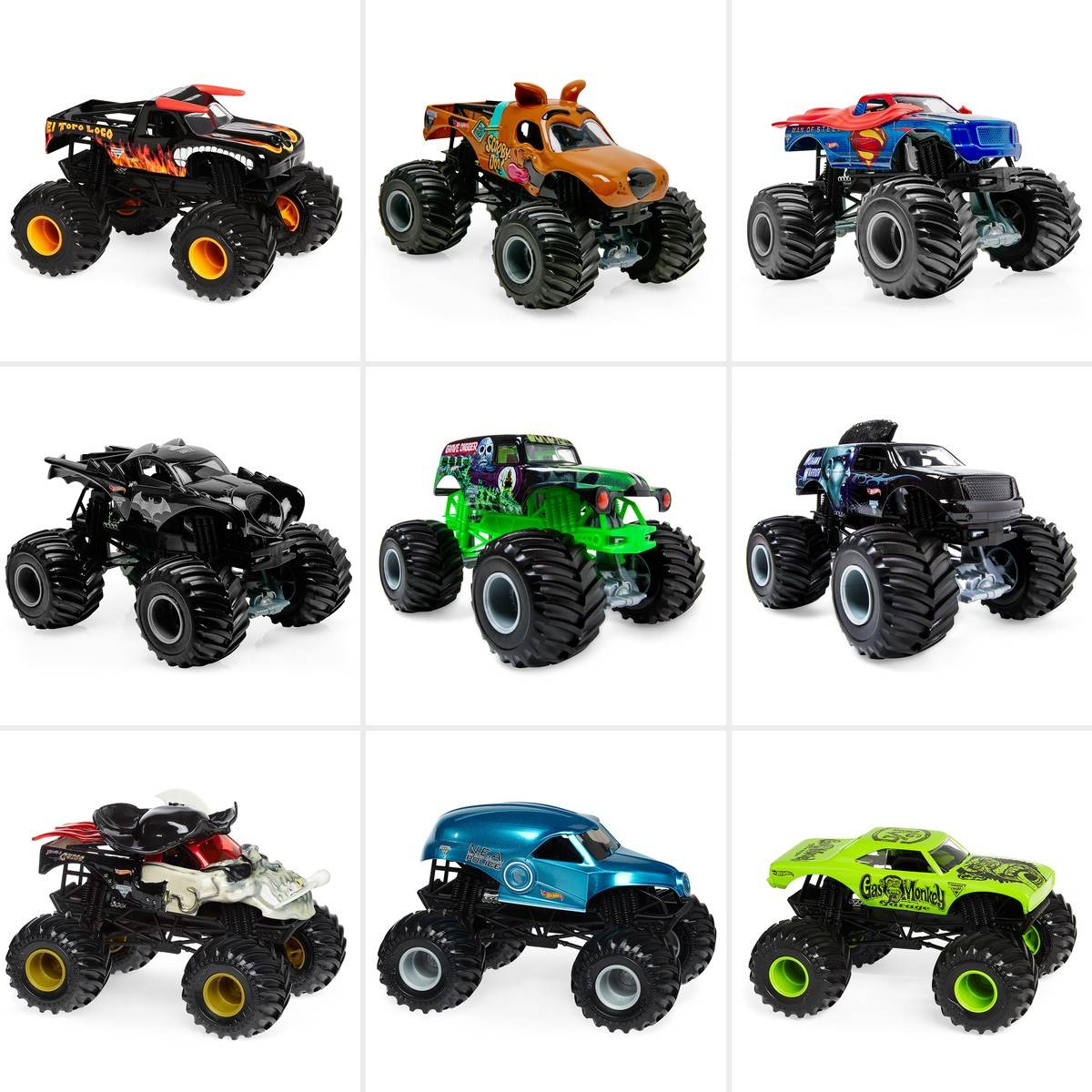 Big W Toy Cars Hot Wheels Monster Jam 1 24 Diecast Vehicle Assorted