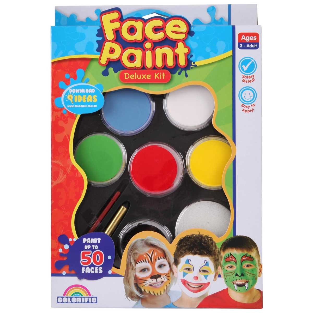 Face Paint Supplies Adelaide Colorific Face Paint Deluxe Kit