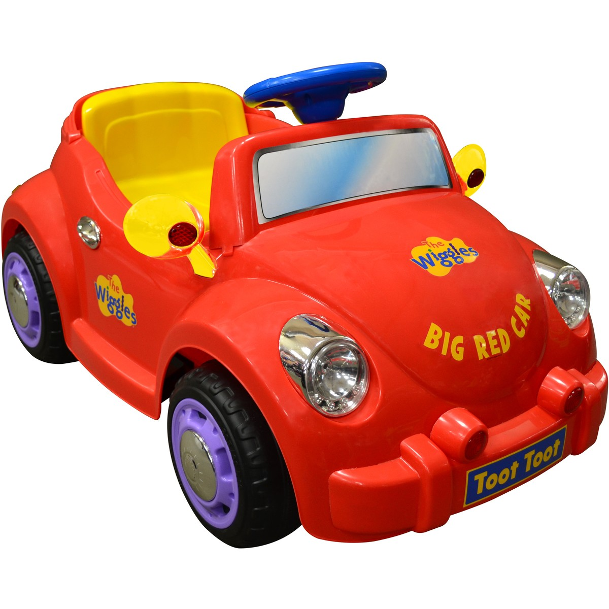 Big W Toy Cars The Wiggles Big Red Car 6v Red Big W