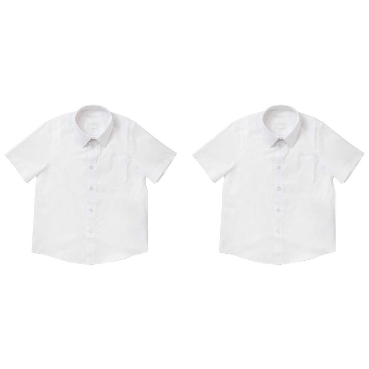 Big W School Shirts Emerson Junior Short Sleeve School Shirt 2 Pack Big W