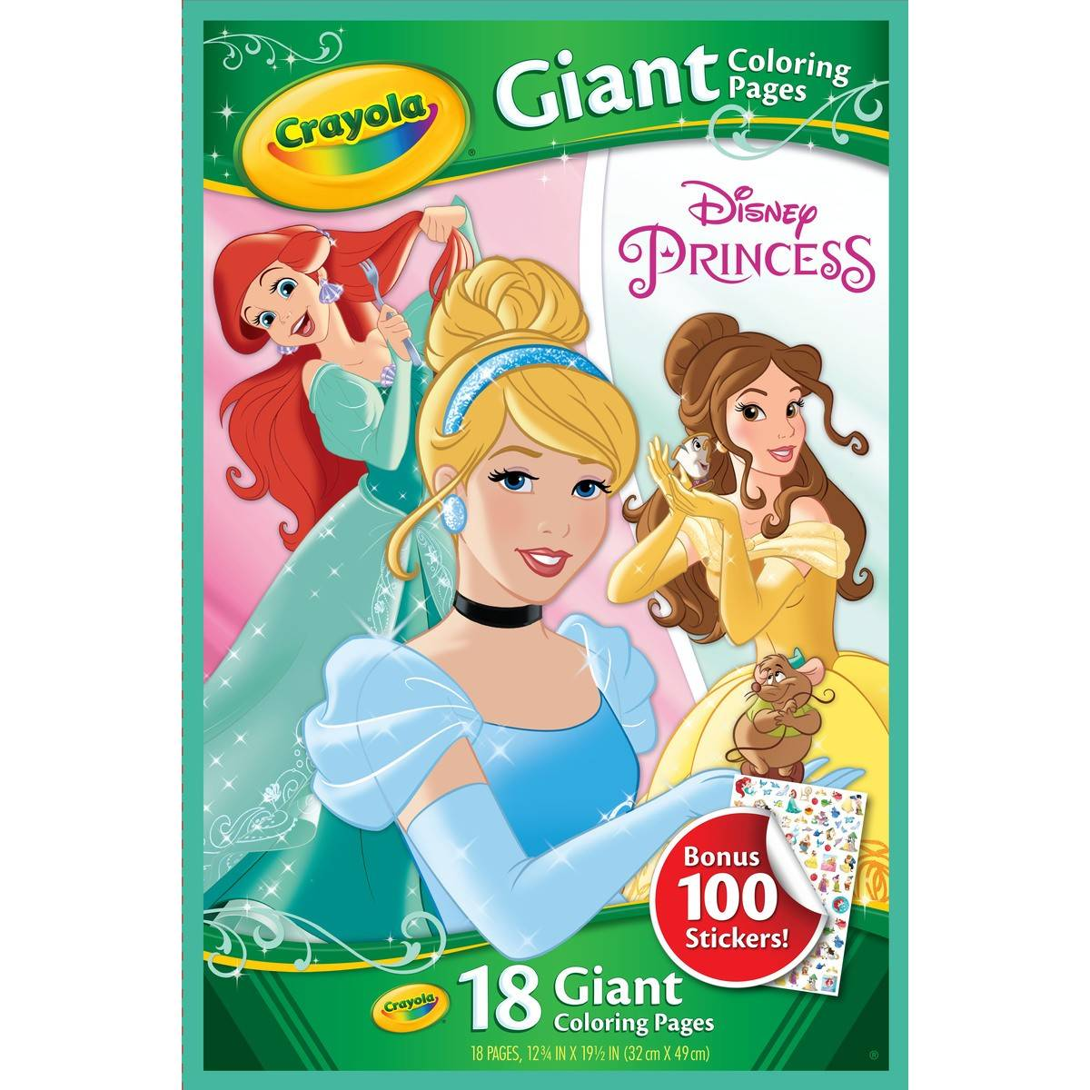 Big W Stickers Crayola Giant Colouring Pages Disney Princess