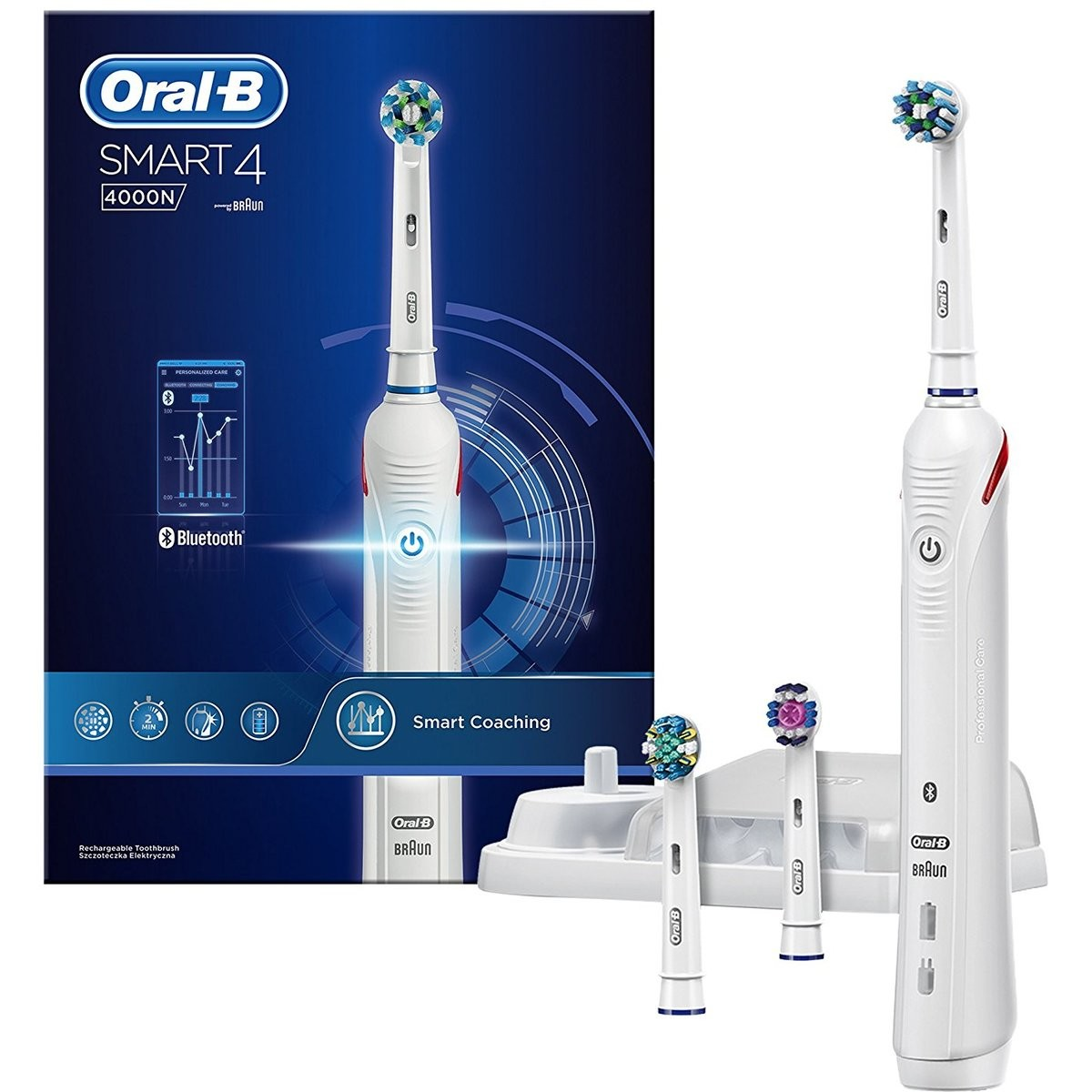 Big W Electric Toothbrush Oral B Smart 4 4000 Electric Toothbrush White