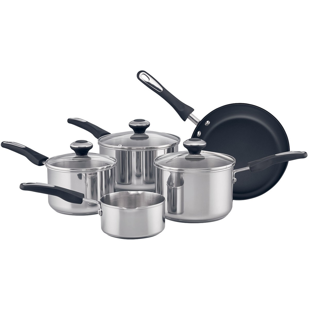 Big W Stock Pot Raco Stainless Steel 5 Piece Cookware Set