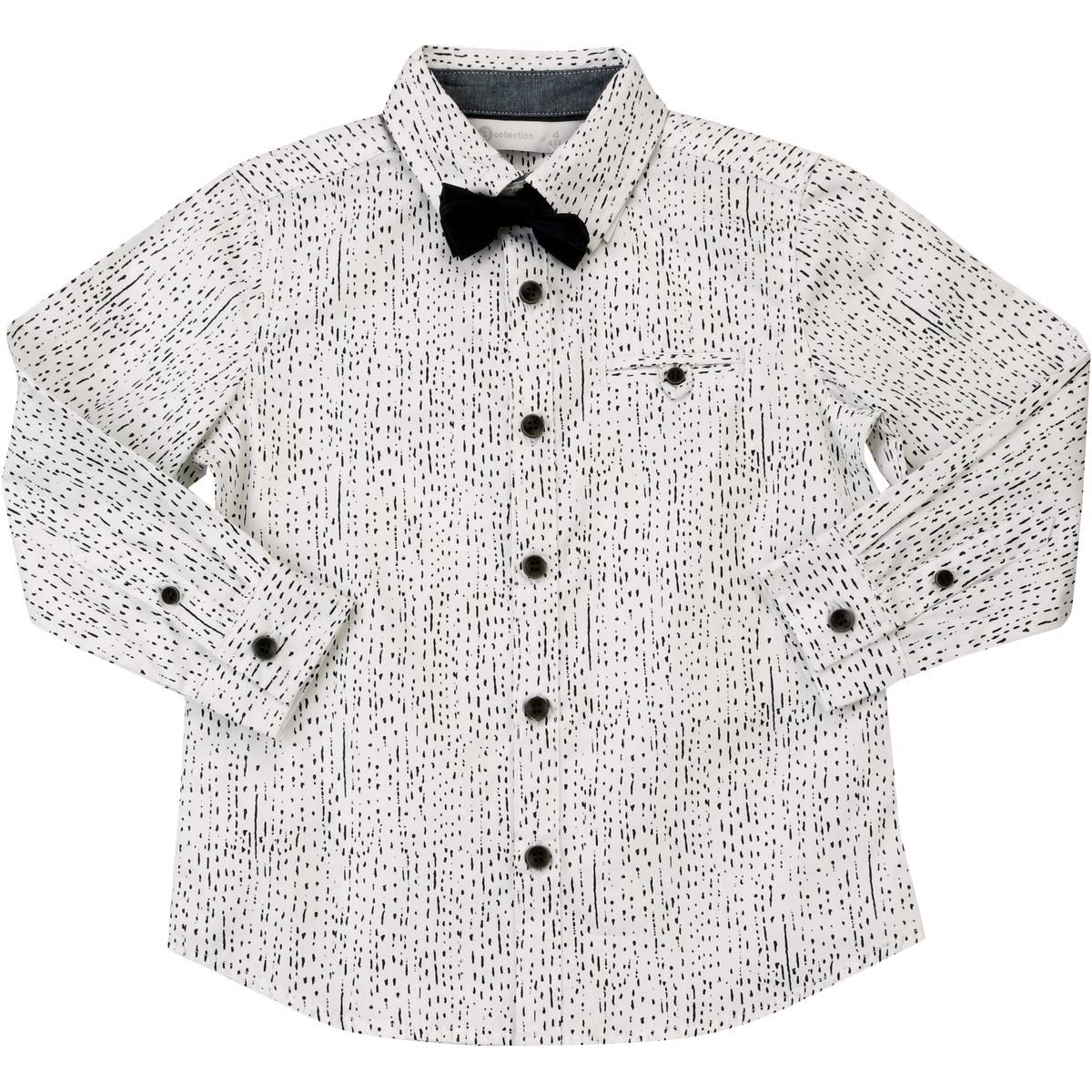 Big W Bow Tie B Collection Boys Bow Tie Shirt White Big W