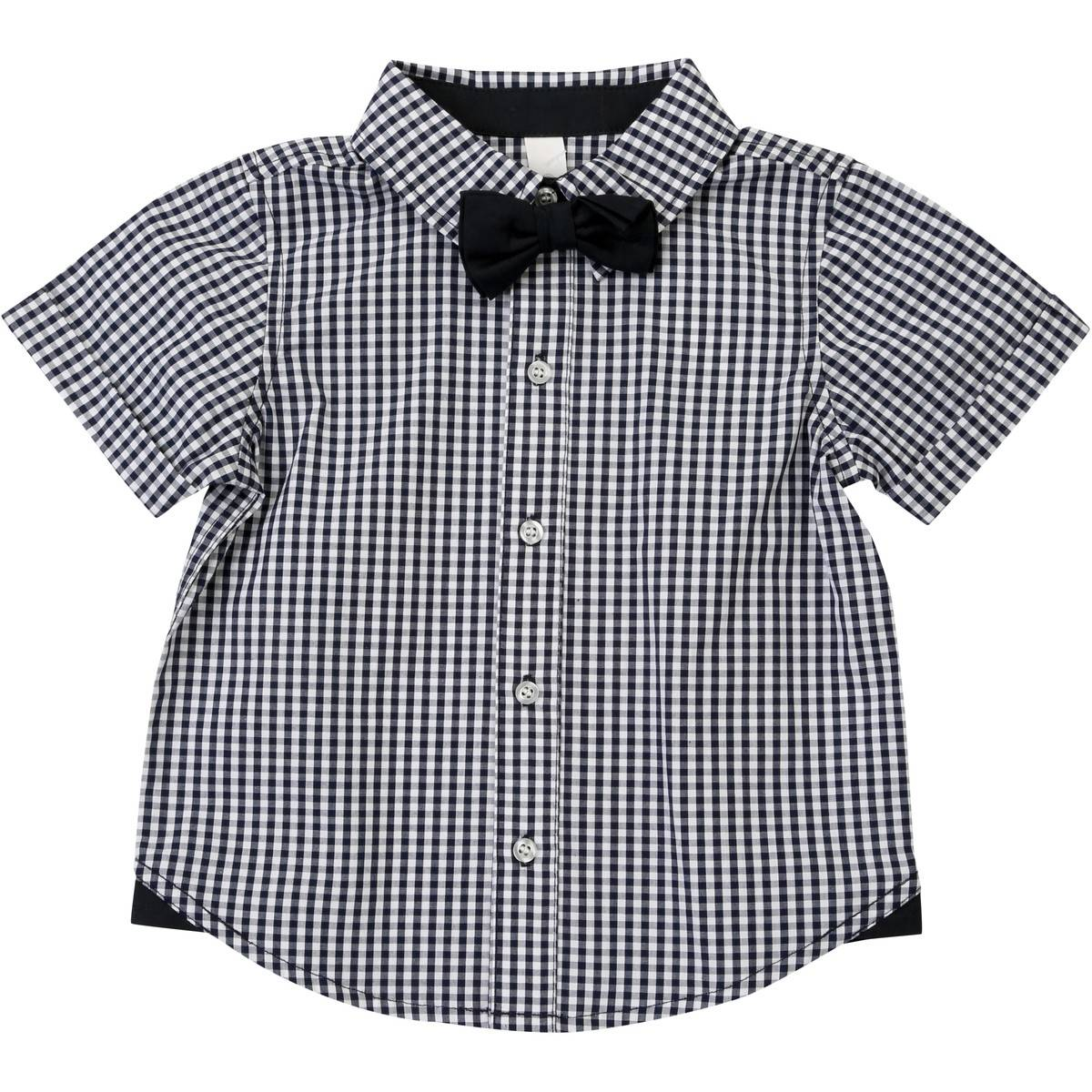 Big W Bow Tie Dymples Baby Bow Tie Shirt Black Big W