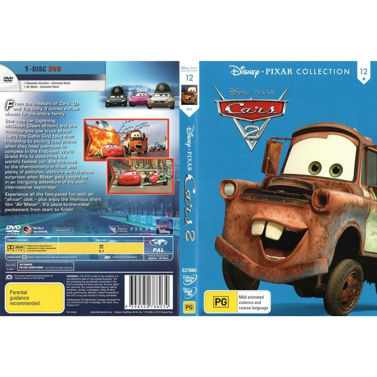 Big W Toy Cars Cars 2 Disney Pixar Collection Dvd Big W
