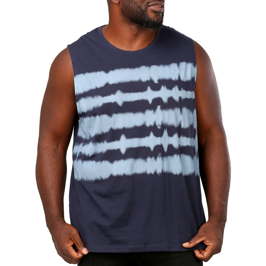 Muscle Shirt Joe Co Men S Tie Dye Muscle Tank Navy