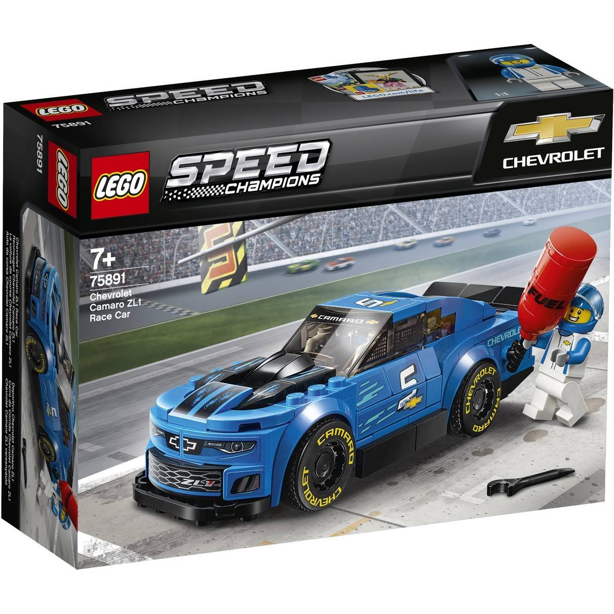Stroller Car Race Lego Speed Champions Chevrolet Camaro Zl1 Race Car 75891