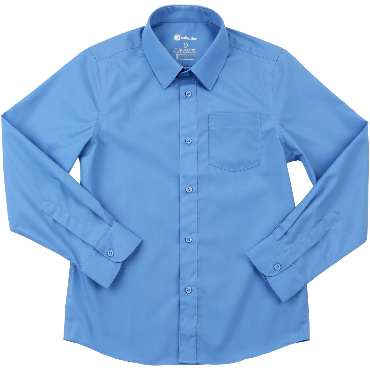 Big W School Shirts B Collection Kids Long Sleeve Shirt Blue Big W
