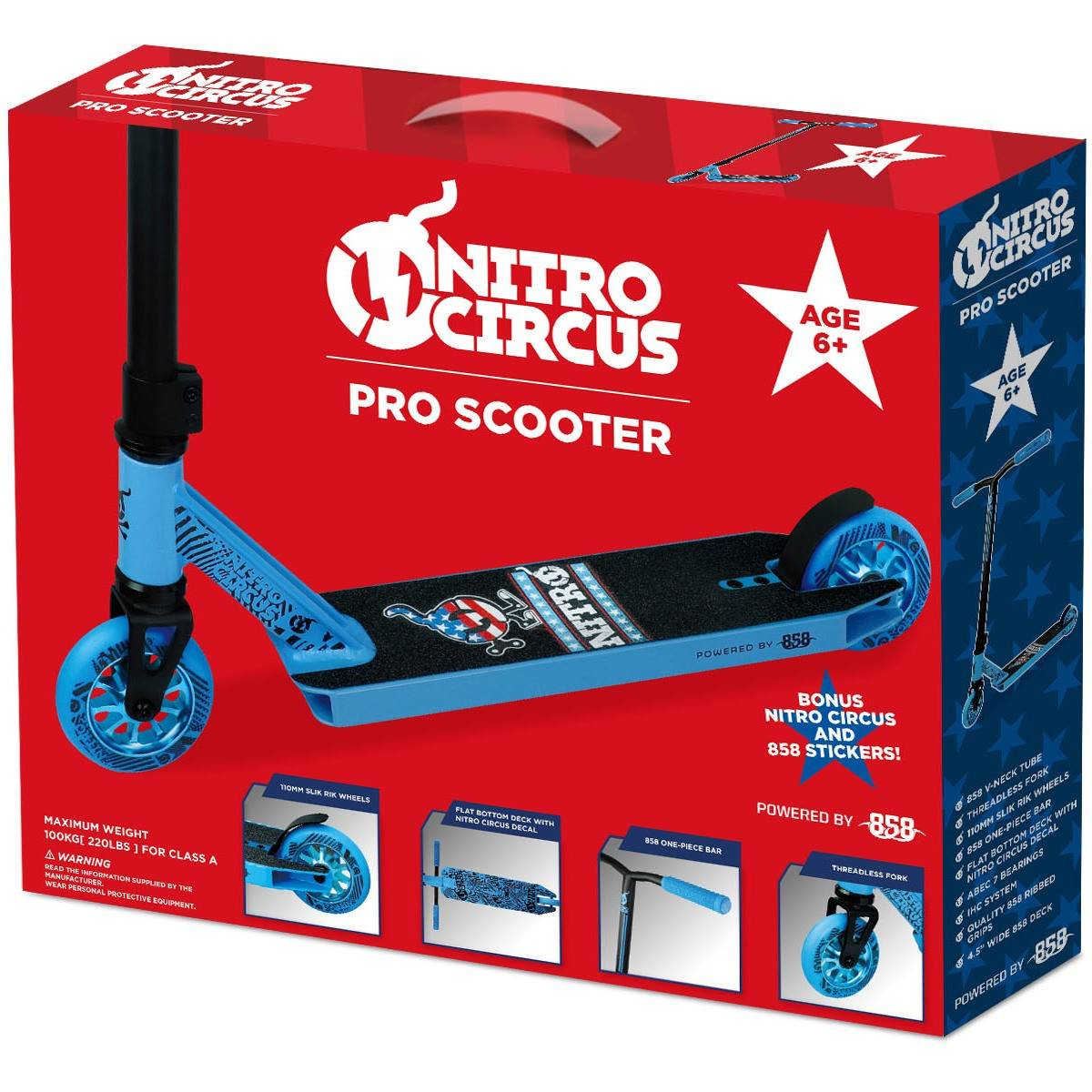 Big W Stickers Nitro Circus Pro Scooter Blue