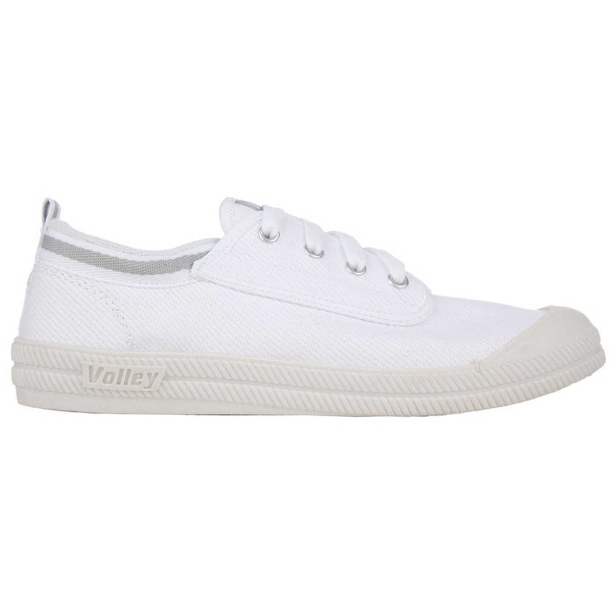 Big W Caps Volley Women S Canvas Lace Up Shoes White Grey Big W
