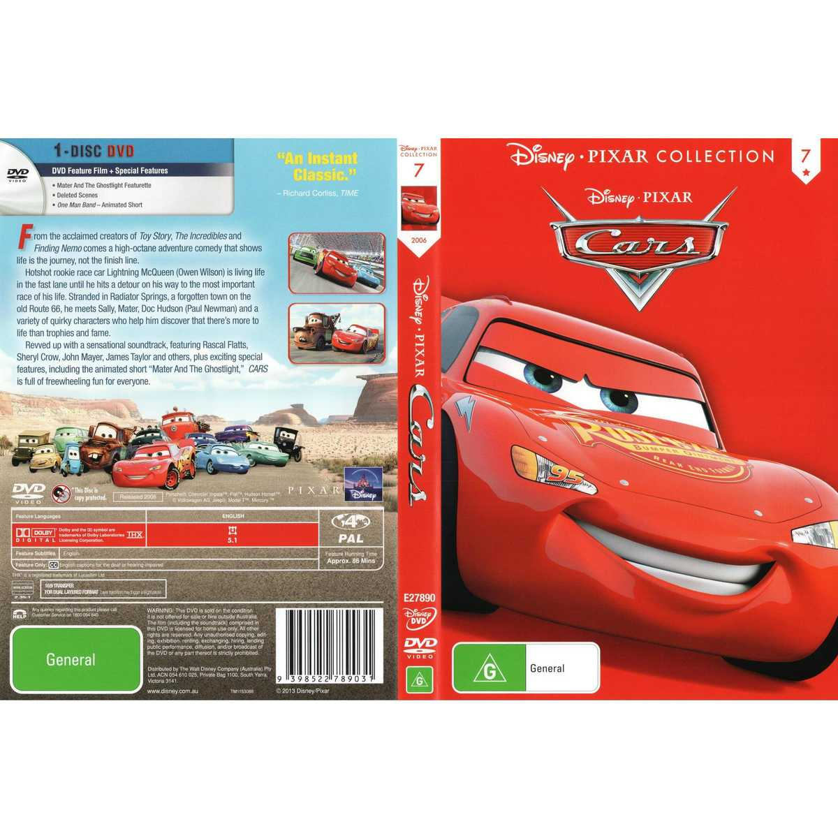 Big W Toy Cars Cars Disney Pixar Collection Dvd Big W