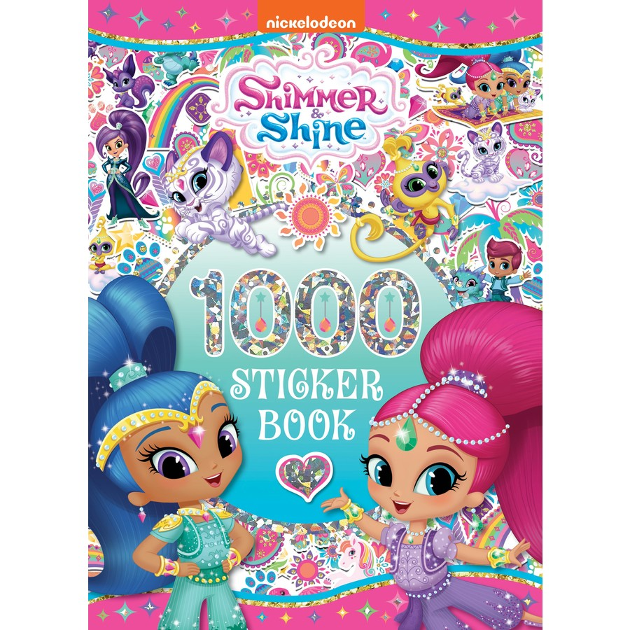 Big W Stickers Shimmer And Shine 1000 Sticker Book