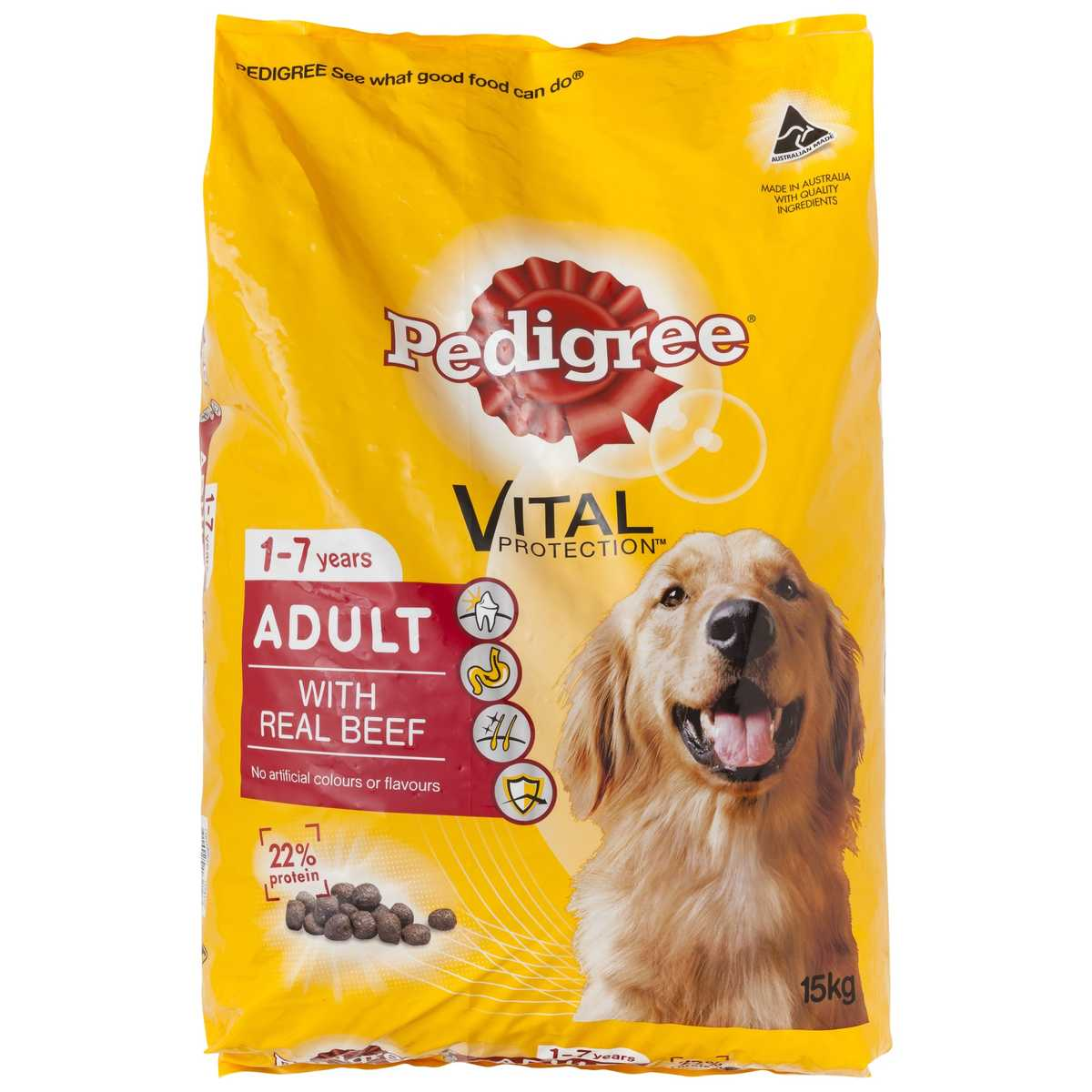 Big W Dog Food Pedigree Vital Protection Adult Beef Big W