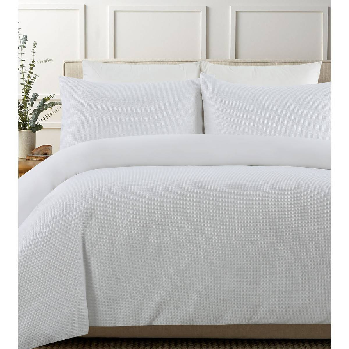 Quilt Cover King Smart Value Waffle Quilt Cover Set White King