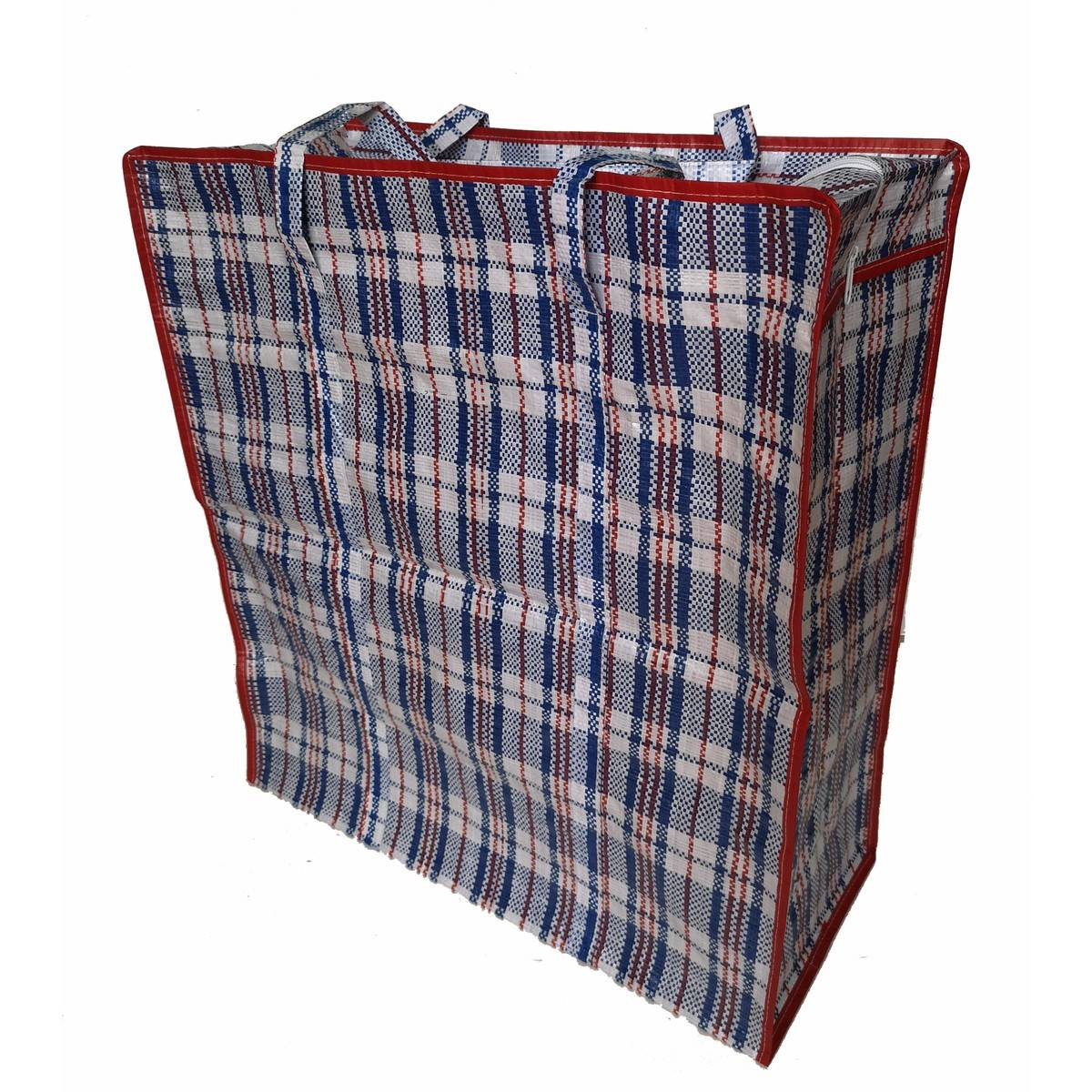 Bike Basket Big W Jumbo Zip Storage Bag Checkered Print