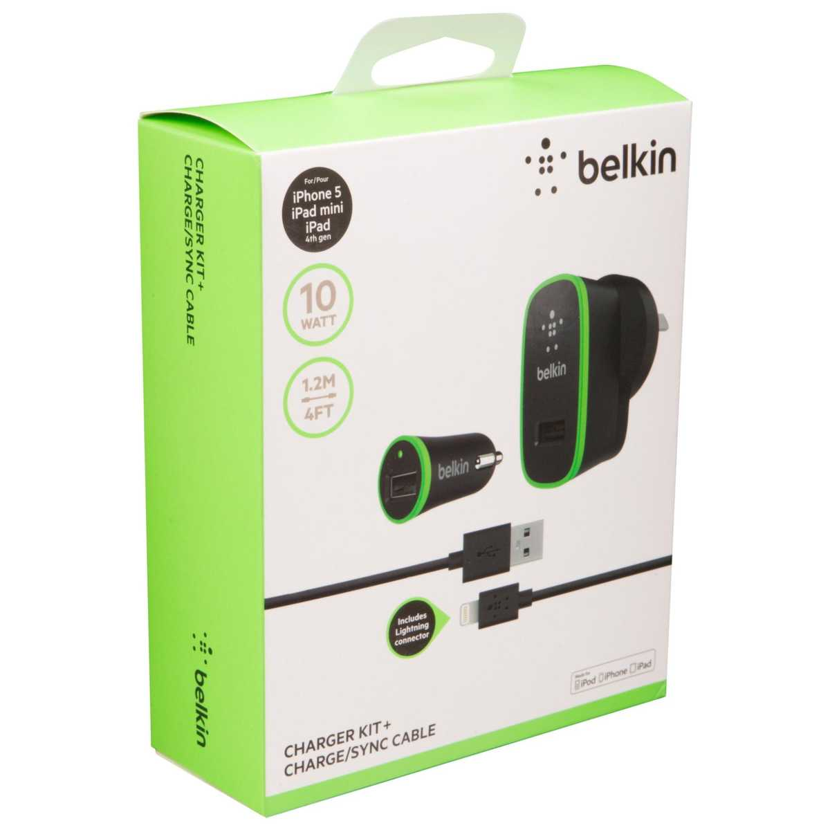 Big W Lighting Belkin Charger Kit With Lightning To Usb Cable Big W