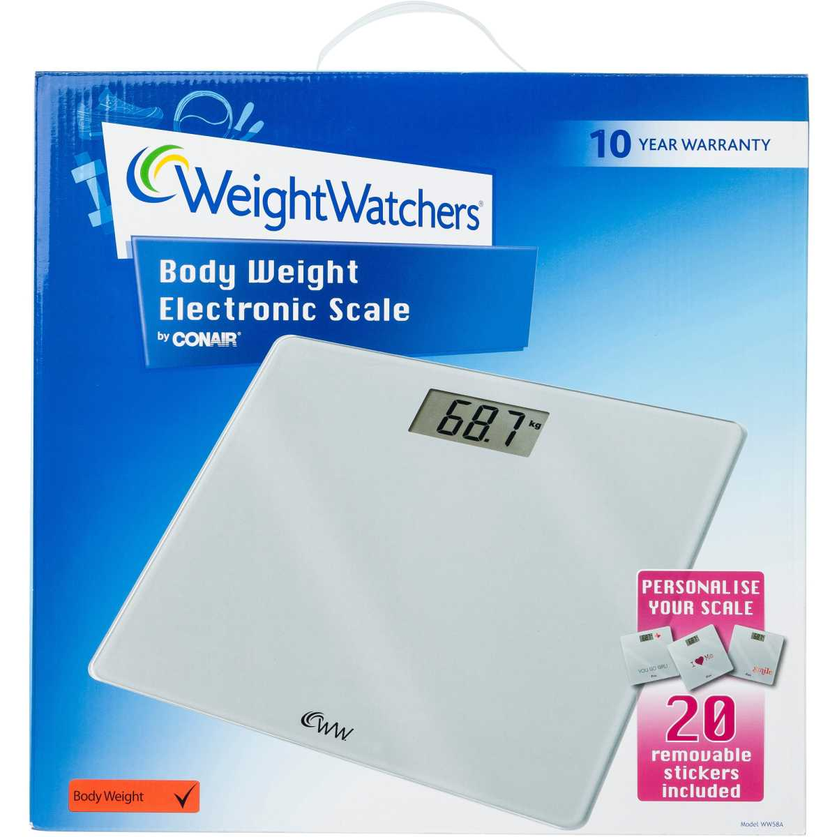 Weight Scales Big W Weight Watchers Body Weight Electronic Scale Ww58a Big W