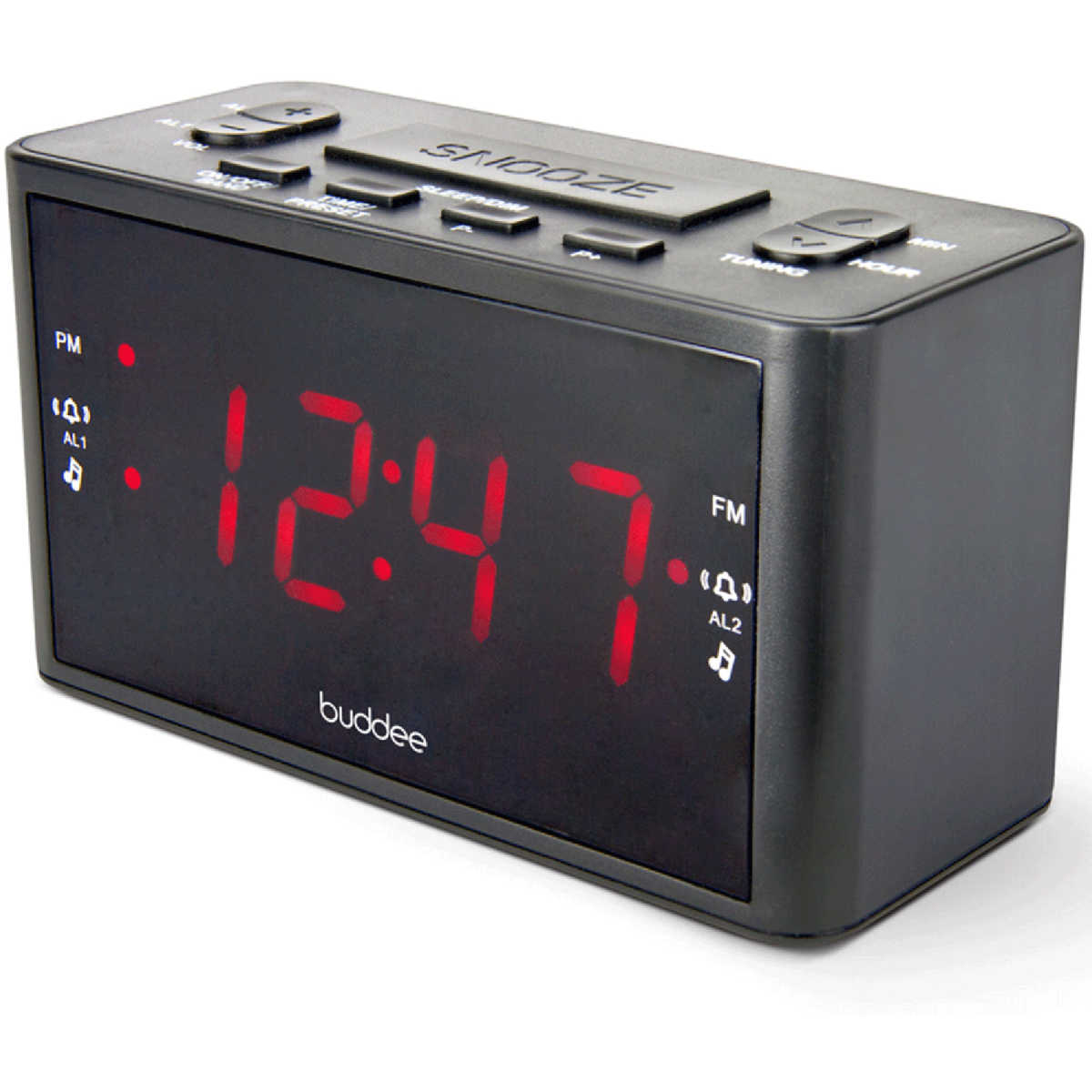 Digital Clock For Sale Buddee Dual Alarm Digital Clock Radio Black Big W