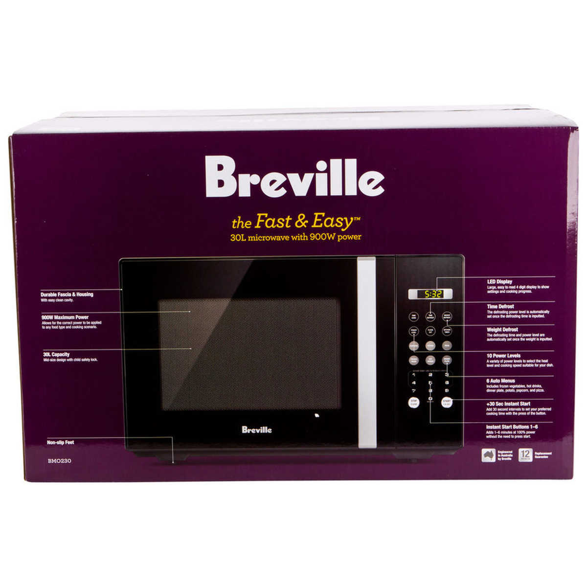 Big W Microwaves Breville Fast And Easy 30l Microwave Big W