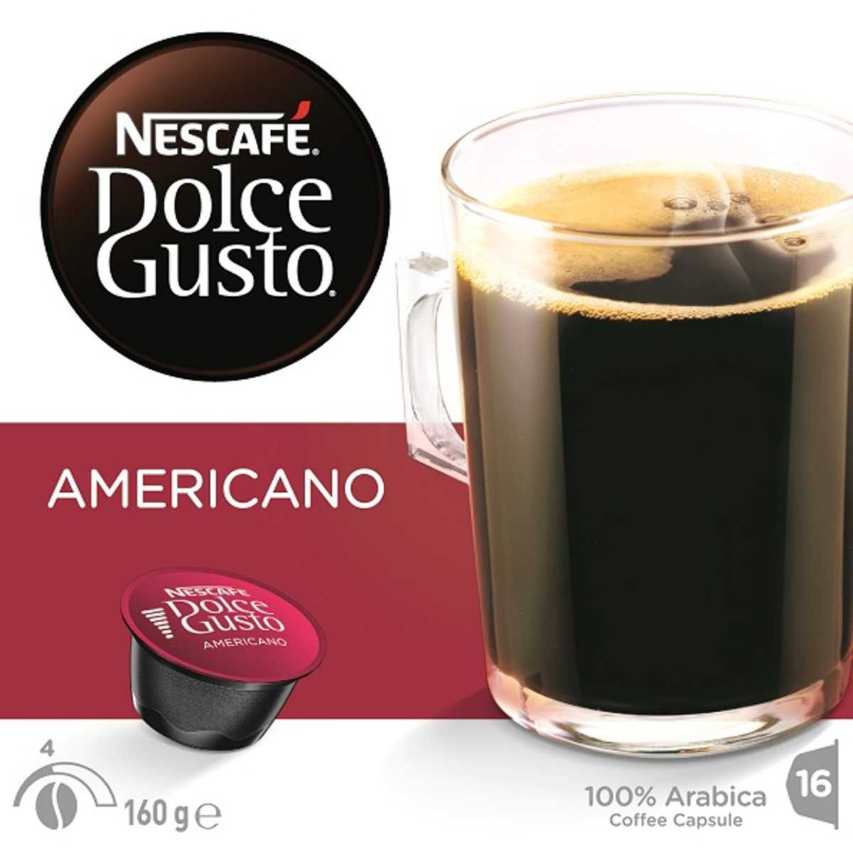Americano Coffee To Go Nescafe Dolce Gusto Americano 16 Pack Big W