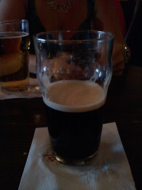 "Remnants of a ""Bumblebee"" (half Guinness, half Boddington's)"