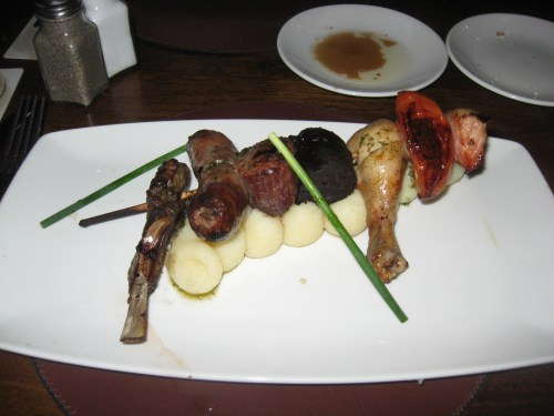 Mixed Grill from Raglan Road Irish Pub